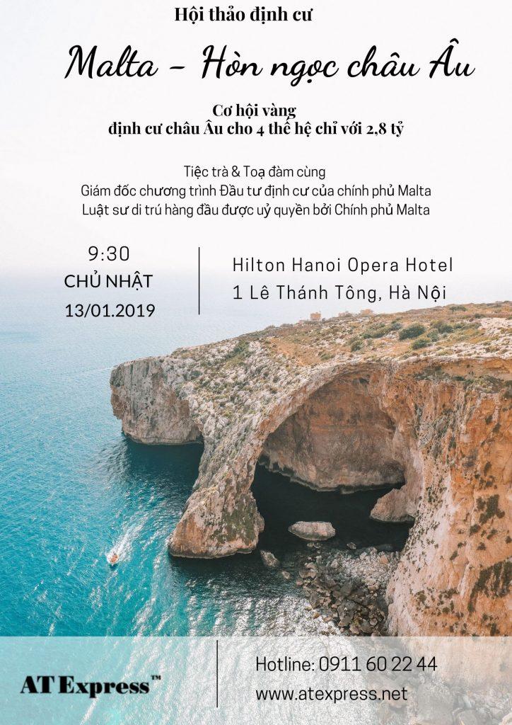 Hội thảo: Định cư Malta – Hòn ngọc Châu Âu 13.01.2019