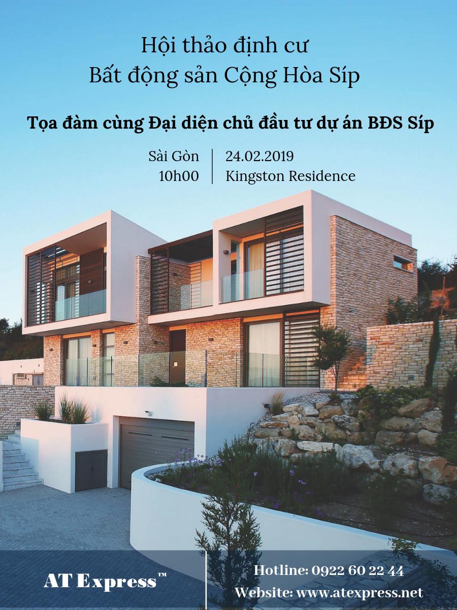 [TP HCM] – Hội thảo định cư  – bất động sản Cộng Hòa Síp 24.02.2019